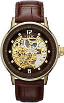 jcpenney-relic-mens-gold-tone-automatic-skeleton-leather-strap-watch